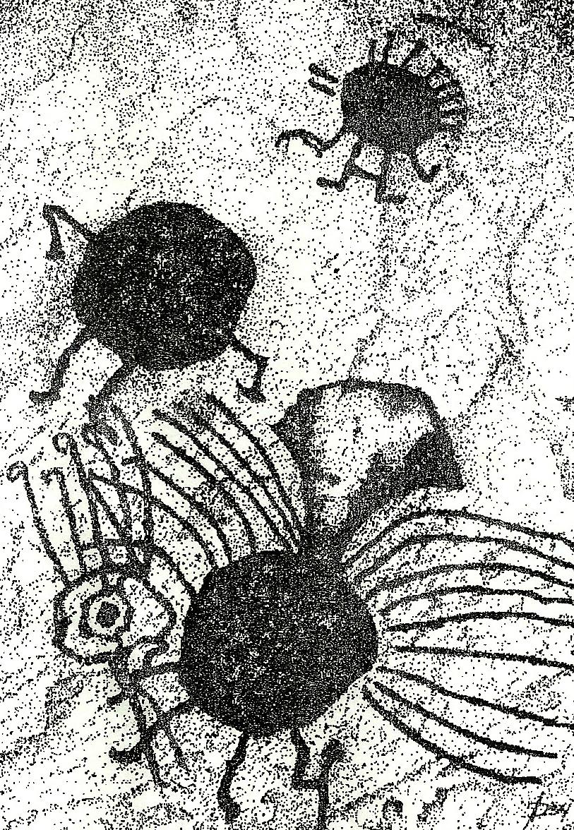Dibujo original de la cultura Ansilta