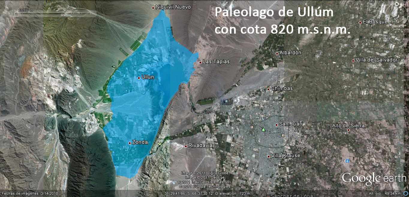 Paleolago de Ullúm (cota 820)