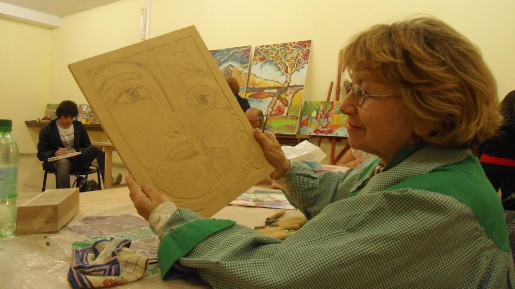 Irma Zuanni Taller de Arte en la UNSJ