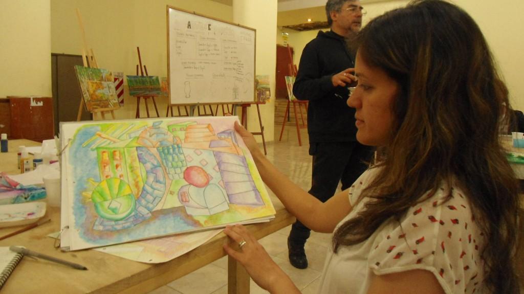 Johanna Trigo Taller de Arte en la UNSJ