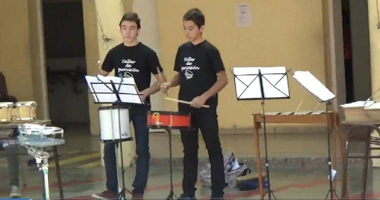 Taller de percusión del CCU de la UNSJ