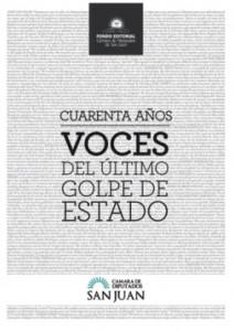 40 años-Voces del último golpe de estado.