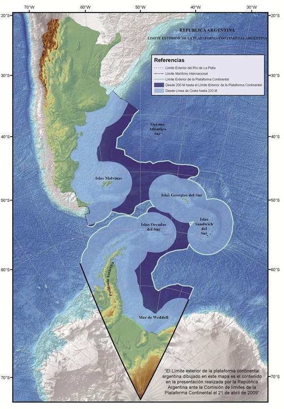 Mapa Plataforma Continental