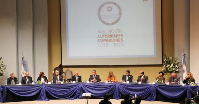 Acto de asunción de autoridades de la UNSJ, 1 de julio de 2016