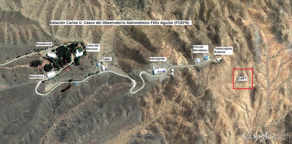Sitio en El Leoncito donde se ubicará el proyecto CART