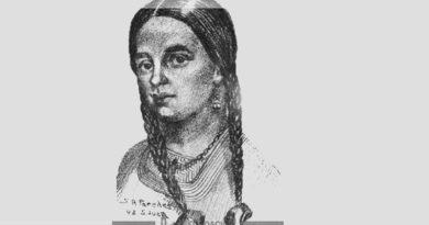 Teresa de Ascencio de Mallea, dibujo de Santiago Paredes. Fuente: Fundación Bataller