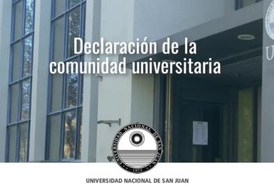 La UNSJ sostiene principios irrenunciables de la educación superior