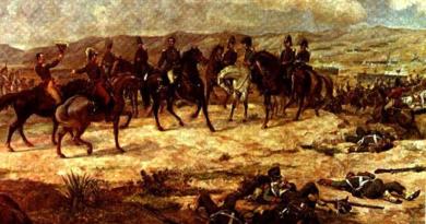 Batalla de Ayacucho (1824). Fuente: Óleo sobre tela de Martín Tovar y Tovar. Colección de la Galería de Arte Nacional. Caracas - Venezuela.