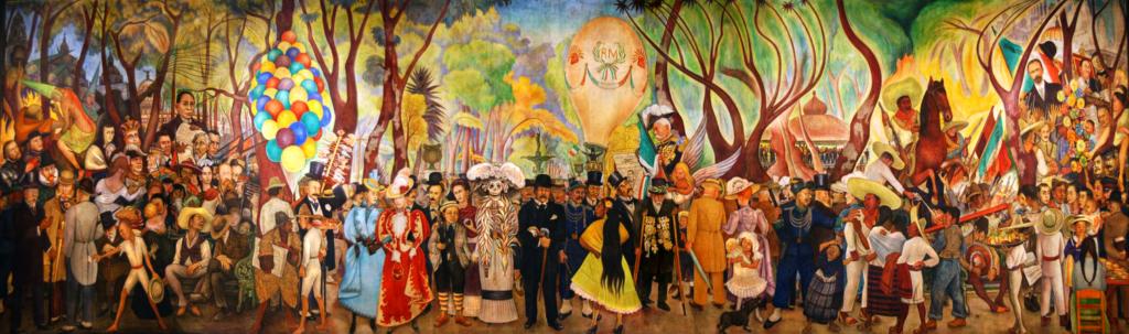 Sueño de una tarde dominical en la Alameda Central (1947), mural del mexicano Diego Rivera (1886-1957).
