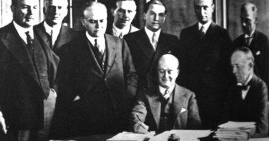 Firma del Pacto Roca Runciman, diario La Nación