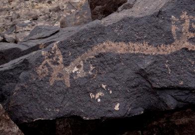 Arte rupestre en el Cerro Blanco