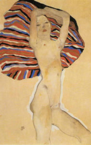 1911-egon-schiele-nude-against-coloured-background-1911