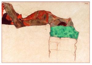 Desnudo de un hombre tumbado... Egon Schiele