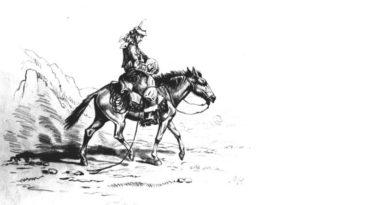 Arriero o campesino montado a caballo, dibujo. Autor: Rugendas, Mauricio (1802-1858)