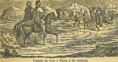 Llegada de Cruz y Fierro a las tolderías_Carlos Clérice
